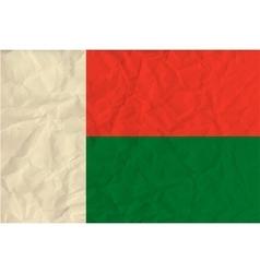 Madagascar paper flag vector image