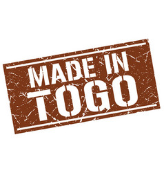 Made in togo stamp vector