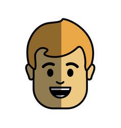 Man head and face with hair vector