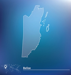 Map of Belize vector image