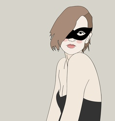 Masked Beautiful Girl vector image