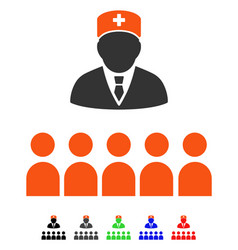 Medical class flat icon vector
