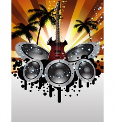 musical grunge background vector image