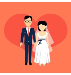 Newlyweds Couple Design Banner Concept vector image