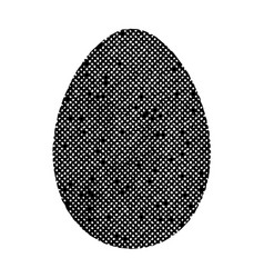 old isolated egg vector image