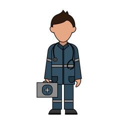 Paramedic avatar icon image vector