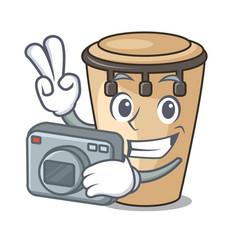 Photographer conga mascot cartoon style vector