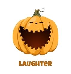 Pumpkin for Halloween Emotions Laughter vector