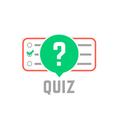 Quiz logo with exam test vector