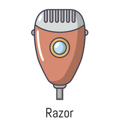 Razor icon cartoon style vector