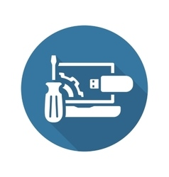 Repair Kit Icon Flat Design vector image