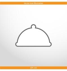 restaurant cloche web flat icon vector image
