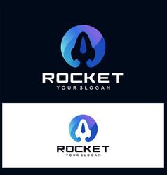 rocket logo icon template vector image