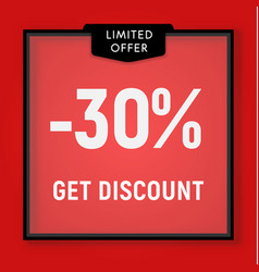 sale 30 percent off get discount website button vector image