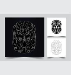 Satan angry artwork vector