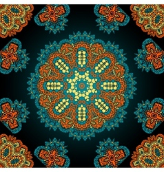 Seamless geometric pattern in oriental style vector image