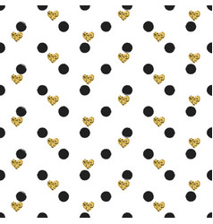 seamless hand drawn ink polka dot pattern with vector image