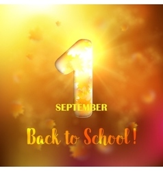September 1st back to school background vector