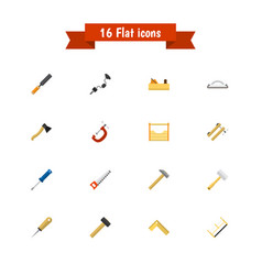 set of 16 editable instrument icons includes vector image