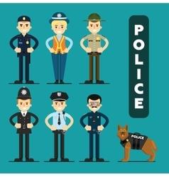 set policeman character vector image