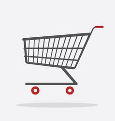 shopping cart flat design icon vector image