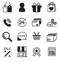 Shopping online icons Set vector image
