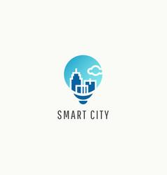 Smart city logo icon template design vector