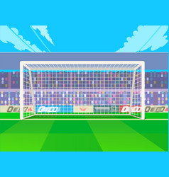 soccer goalpost with net association football vector image