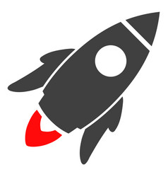space rocket flat icon symbol vector image