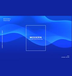 stylish blue wavy banner design vector image