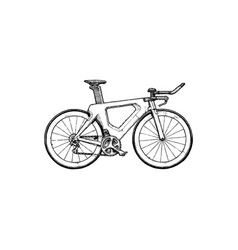 Time trial bicycle vector