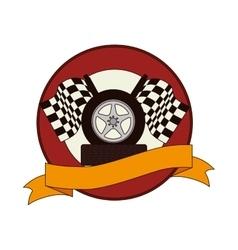 Tires car emblem icon vector