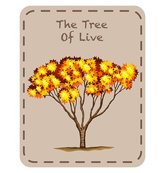 Tree of live with orange leaves vector