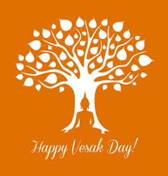 vesak day buddhism religious holiday vector image