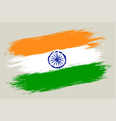 Vintage flag india vector