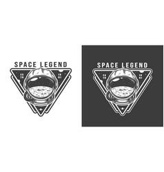 Vintage monochrome space badge vector