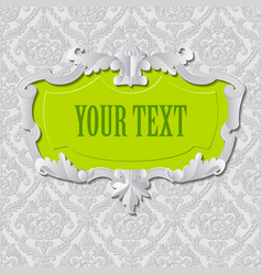 vintage paper frame and background vector image