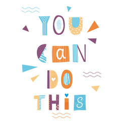 You can do this lettering poster vector