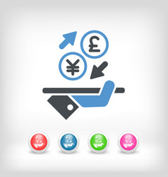 yuansterling - foreign currency exchange icon vector image