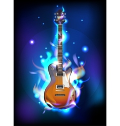 Burning guitar vector image