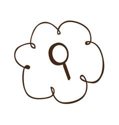 cloud service search icon vector image