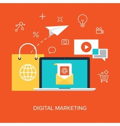 Digital Marketing vector image vector image