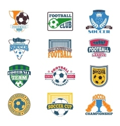 Football sign set vector image