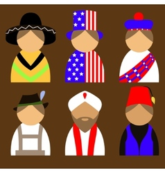 People in nationail costumes vector image vector image