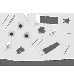 Set of turned paper elements vector image vector image