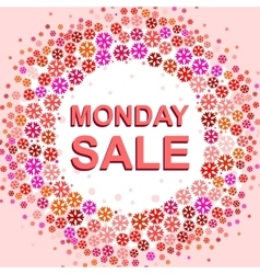 Big winter sale poster with MONDAY SALE text vector image vector image