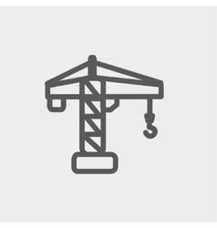 Crane machine thin line icon vector image