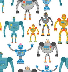 Cyborgs seamless pattern Background of lovely vector image