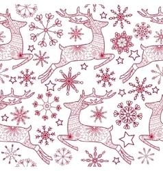 Jump deer seamless pattern vector image