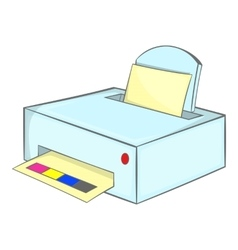 Printer with paper icon cartoon style vector image vector image
